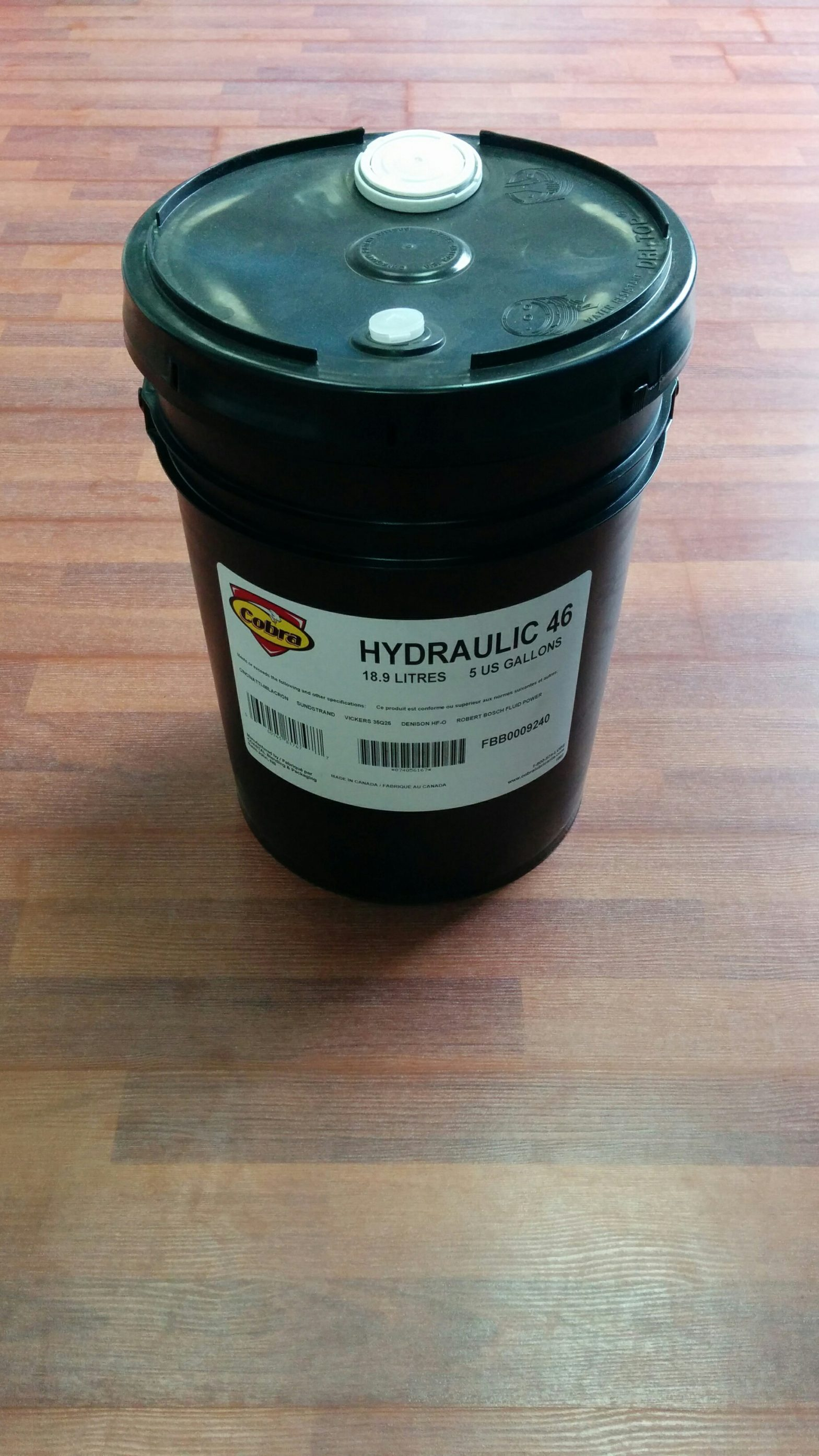 Huile Hydraulique ISO46 (5Gal.) -0